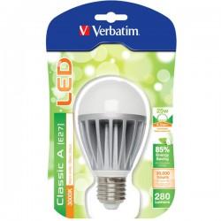Lâmpada Verbatim LED 4,5W - E27 - 3000k - 130º