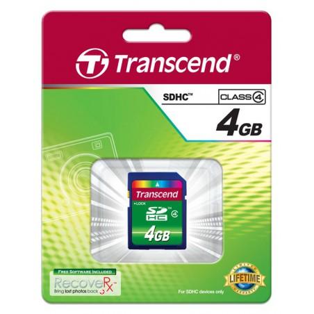 Cartão Transcend SDHC 4 Gb - Class 4