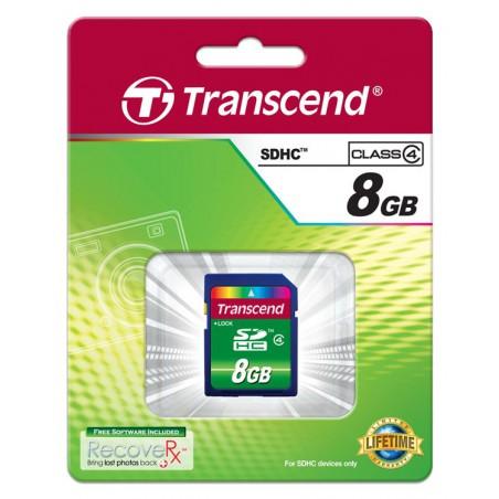 Cartão Transcend SDHC 8 Gb - Class 4
