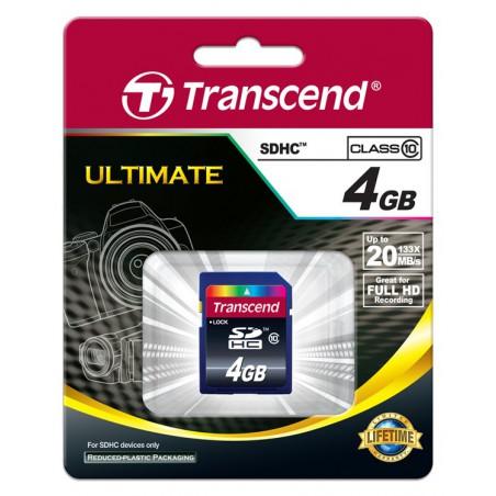 Cartão Transcend SDHC 4 Gb - class 10