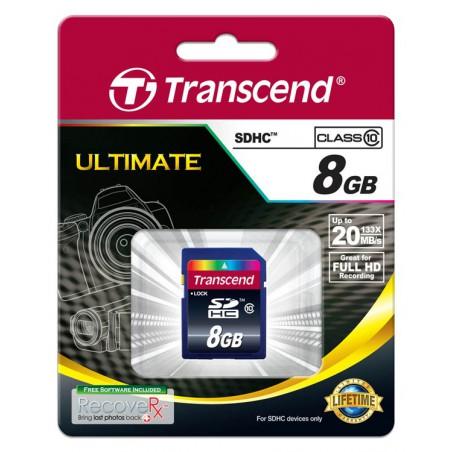 Cartão Transcend SDHC 8 Gb - class 10