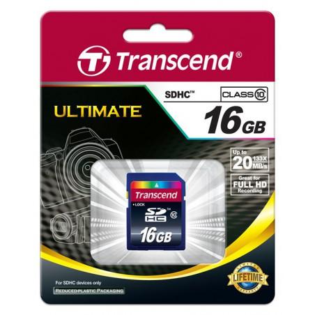 Cartão Transcend SDHC 16 Gb - class 10
