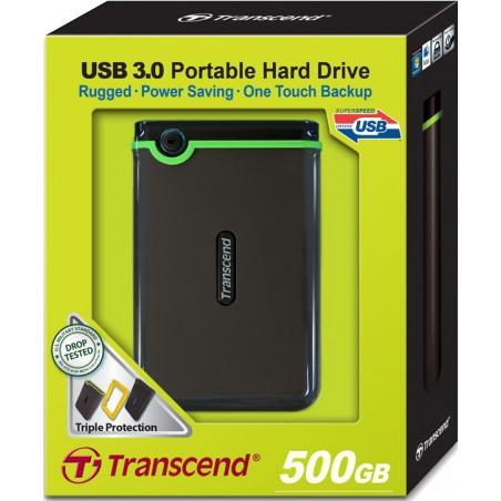 "Disco externo Transcend anti choque 2,5"" USB 3.0 -  500 Gb"