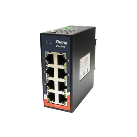 Switch Ethernet 8 portas 10/100Base-T(X) Oring IES-180B