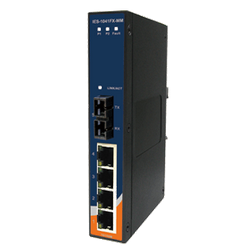 Switch Ethernet 5 portas (4x10/100Base-T(X) e 1x100Base-FX) Oring IES-1041FX