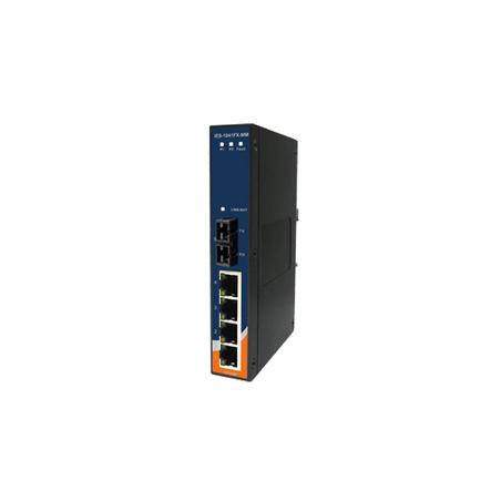 Switch Ethernet 5 portas (4x10/100Base-T(X) e 1x100Base-FX) Oring IES-1041FX