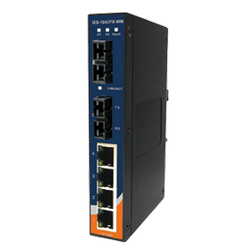 Switch Ethernet 6 portas (4x10/100Base-T(X) e 2x100Base-FX) Oring IES-1042FX