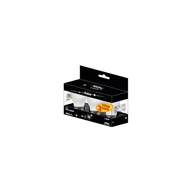 KAISE LED Multipack 3unid Mini Globe 5W - E27 - 3000K - 200º