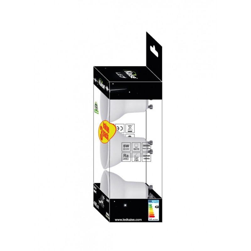KAISE LED Multipack 3unid SPOT 5W - GU10 - 3000K - 120º