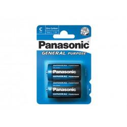 Pilha Panasonic Zinco Carvão R14 BL2