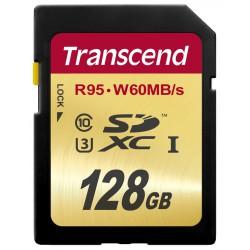 Cartão Transcend 128GB SDXC UHS-I U3 Card