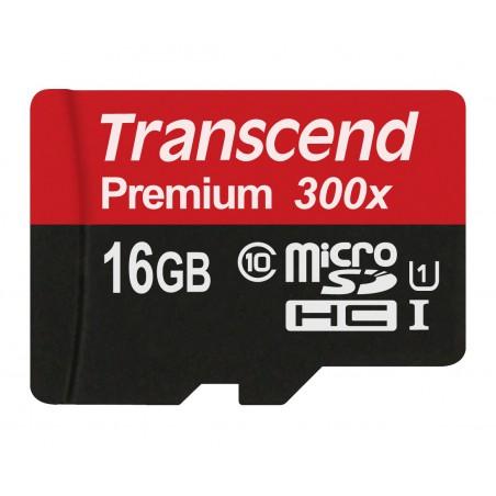 Cartão Transcend microSDHC 16GB - Class10 UHS-I 300X