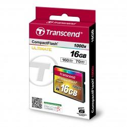 Cartão Transcend Compact Flash 16 Gb - 1000x