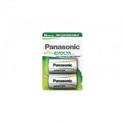 Pilha Panasonic recarregavel Evolta - R20 2050Mah BL2