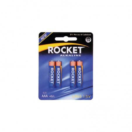 Pilha Rocket LR03R BL4