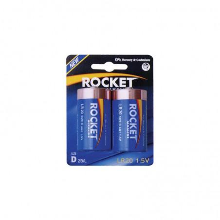 Pilha Rocket LR20R BL2