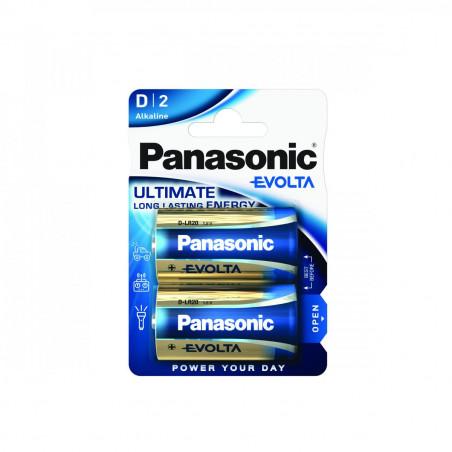 Pilha Panasonic Evolta LR20 BL2