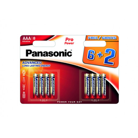 Pilha Panasonic Pro Power LR03 BL6+2