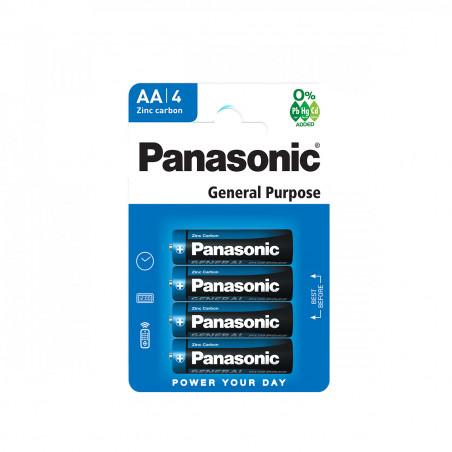 Pilha Panasonic Zinco Carvão R06 BL4