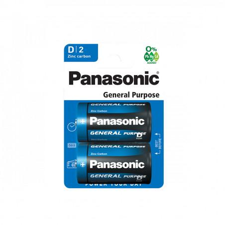 Pilha Panasonic Zinco Carvão R20 BL2