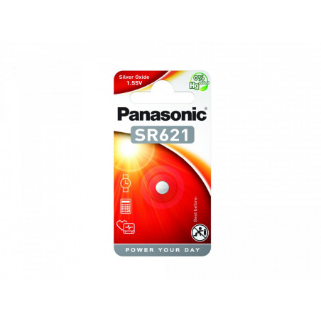 Pilha Panasonic Relojoria SR621 - 1,55V BL1