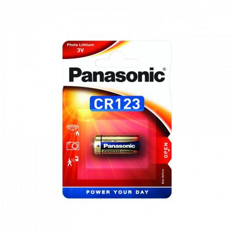 Pilha Panasonic Lítio Foto CR123 - 3V BL1