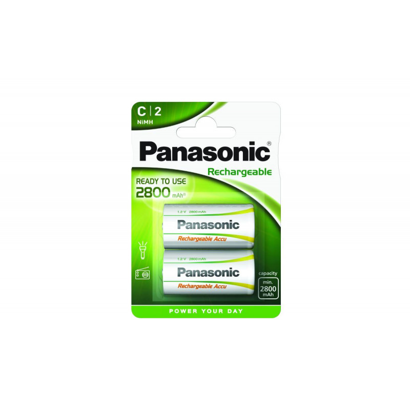 Pilha Panasonic recarregavel Prof. - R14  3000Mah BL1