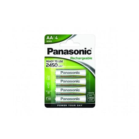 Pilha Panasonic recarregavel EVOLTA - LR6 2450Mah BL4