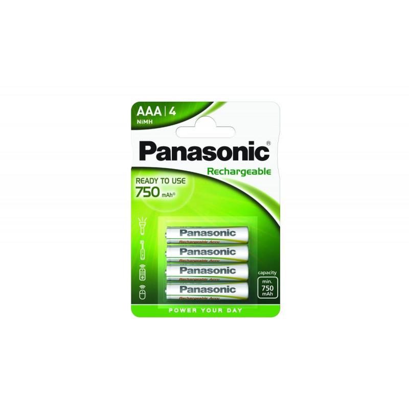 Pilha Panasonic recarregavel READY TO USE - LR03 750Mah BL4