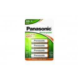 Pilha Panasonic recarregavel READY TO USE - LR6 1000Mah BL4