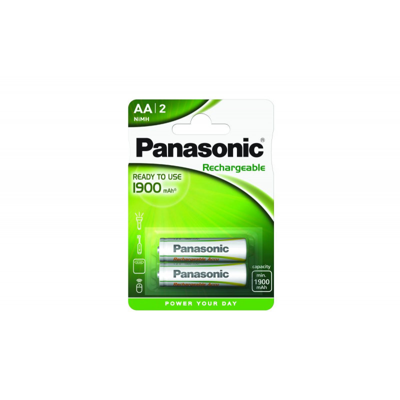 Pilha Panasonic recarregavel Evolta - LR6 1900 Mah BL2
