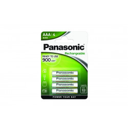 Pilha Panasonic recarregavel Evolta - LR03 900Mah BL4
