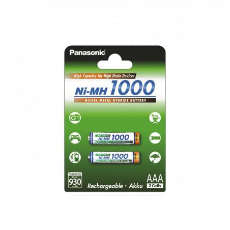 Pilha Panasonic Recarregavel Ni-MH 1000mAh BL2