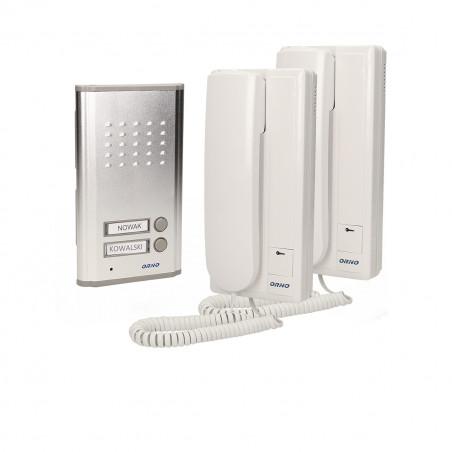 Audio Porteiro FOSSA INTERCOM ORNO - ( 2 xTelefone + 2 x campainha)