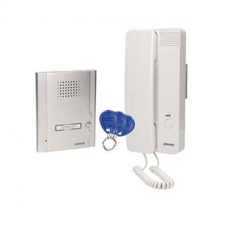 Audio Porteiro LEGIO ORNO - (Telefone + campainha) com  possibilidade abertura com Tags