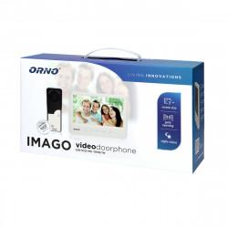 """Video Porteiro IMAGO ORNO - Branco ( 7"""" LCD, 16 toques, protecção chuva incluida)"""