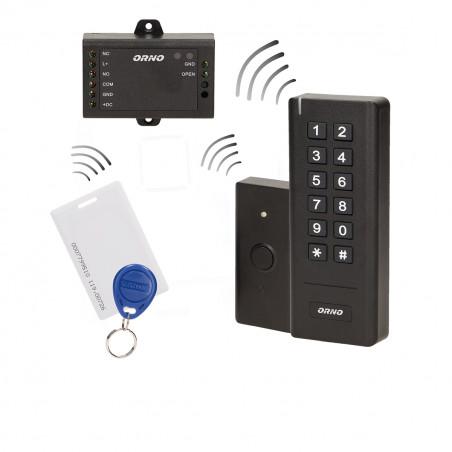 Comando de acesso + Fonte + Botão ORNO - IP20, RFID + Tag
