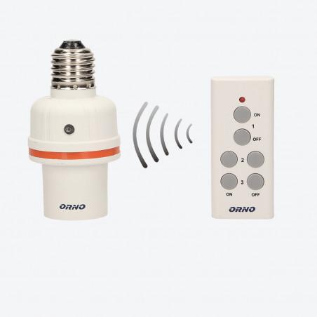 Casquilho E27 s/ fios ON/OFF ORNO - 1+1