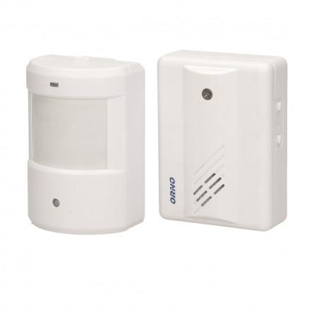 Mini-alarme com detector de movimento ORNO - 2x AA + 1x9V; Alcance: 100m; ding-dong
