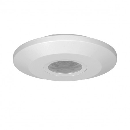 Sensor de Movimento Tecto ORNO - Branco 360º, fino, funciona c/LED, IP20