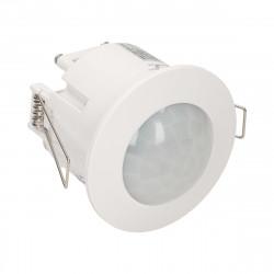 Sensor de Movimento embutido ORNO - Branco 360º, fino, funciona c/LED, IP20