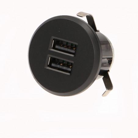 Carregador USB  p/ Moveis ORNO - Cinza, 2 USB, 5V DC 2,1Ah, com Tranformador