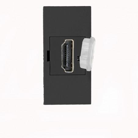 Tomada HDMI Modular P/ 9010 ORNO -  22,5 x 45mm - Preto