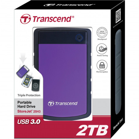 "Disco externo Transcend anti choque 2,5"" USB 3.0 -  2 Tb"