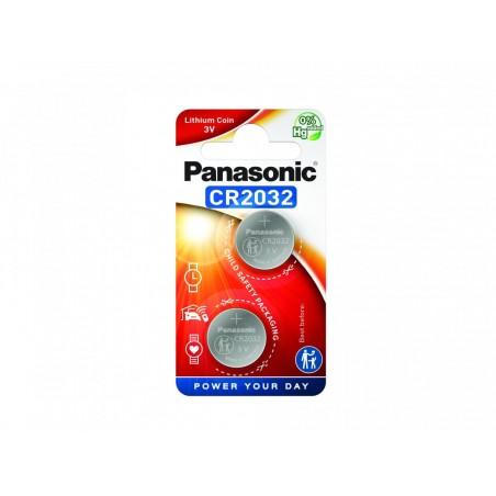 Pilha Panasonic Lítio Botão CR2032 BL2