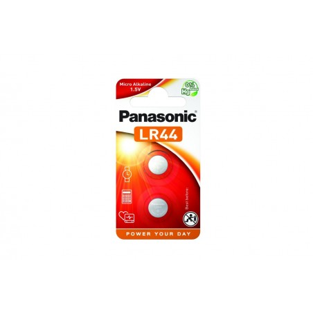 Pilha Panasonic Micro Alcalina LR44 - 1,5V BL2