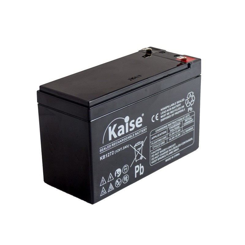 Bateria Kaise Standard 12V 7,2Ah Terminal F1