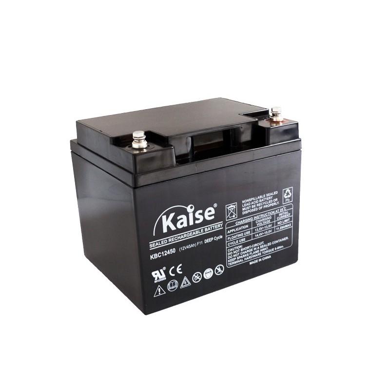 Bateria Kaise Deep Cycle 12V 45Ah Terminal F11