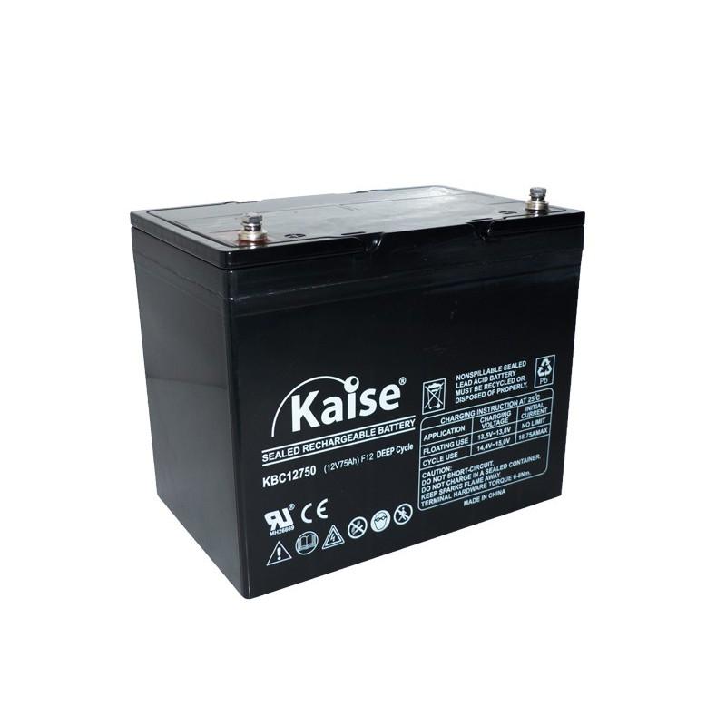Bateria Kaise Deep Cycle 12V 75Ah Terminal F12