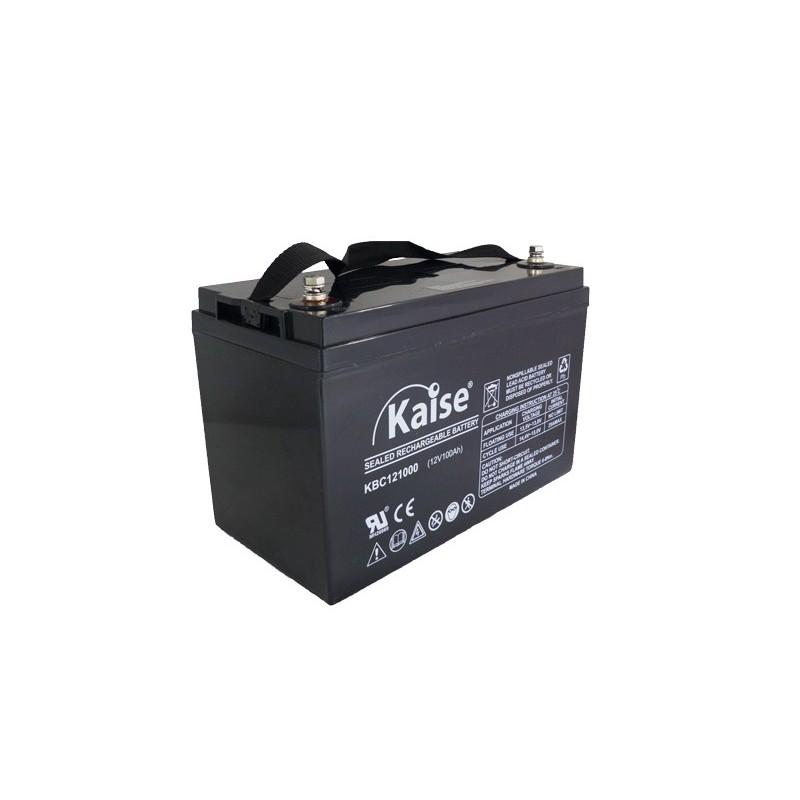 Bateria Kaise Deep Cycle 12V 100Ah Terminal F122